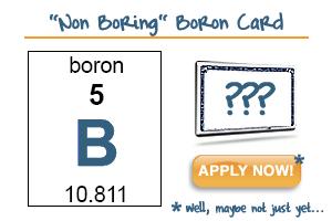 Boron Credit Card