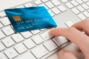Man Compares Credit Cards Online